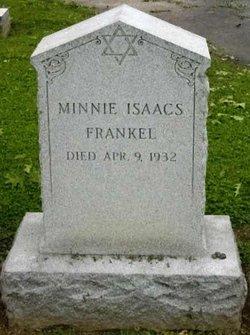 Minnie <i>Isaacs</i> Frankel