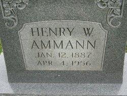 Henry W Ammann