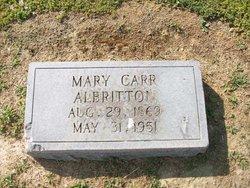 Mary <i>Carr</i> Albritton