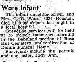 Infant Ware