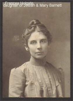 Frances Elizabeth <i>Barnett</i> Holgate