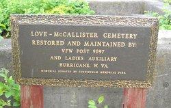Love-McCallister Cemetery