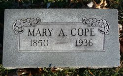 Mary A. <i>Winkler</i> Cope
