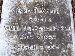 Emma Knox <i>Lide</i> Alison