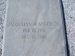 Mary Jacquelyn <i>Harrell</i> Anderson