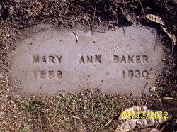 Mary Ann <i>Myers</i> Baker
