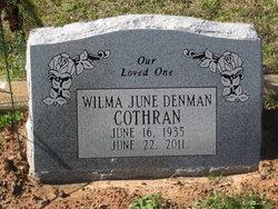 Wilma June <i>Denman</i> Cothran