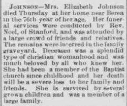Elizabeth <i>Todd</i> Johnson