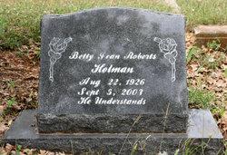 Betty Jean B. J. <i>Roberts</i> Holman