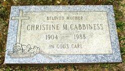Christine Mae <i>Gregory</i> Cabbiness