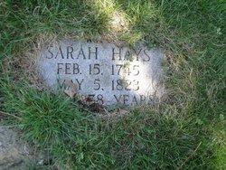 Sarah <i>Brown</i> Hays