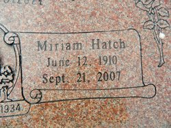 Miriam <i>Hatch</i> Tuttle