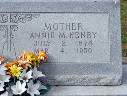 Annie M <i>Calvert</i> Henry