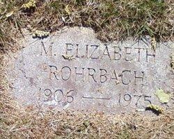M. Elizabeth Rohrbach