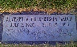 Alveretta Eleanor Etta <i>Culbertson</i> Balch