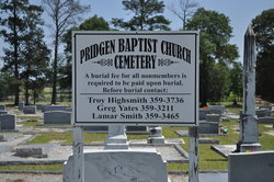 Pridgen Baptist Church Cemetery