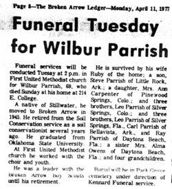 Wilbur E Parrish
