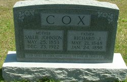 Sallie <i>Johnson</i> Cox