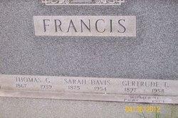 Sarah <i>Francis</i> Davis