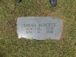 Sarah Ann <i>Burton</i> Burgett