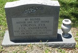 Virginia Eva <i>Fox</i> Anderson