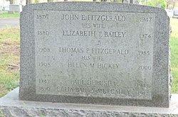 Elizabeth T <i>Bailey</i> Fitzgerald