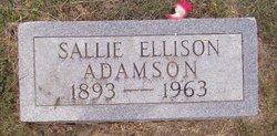 Sallie Isadore <i>Ellison</i> Adamson