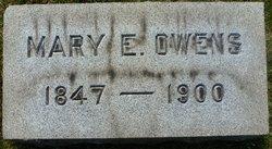Mary E <i>Van Bergen</i> Owens