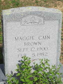 Maggie <i>Cain</i> Brown