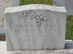 Hannah Malissa <i>Hendrix</i> Barnes