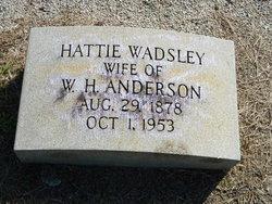 Harriett <i>Wadsley</i> Anderson