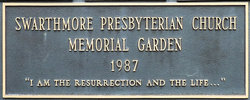 Swarthmore Presbyterian Church Memorial Garden
