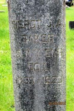 Sgt James Albert Baker