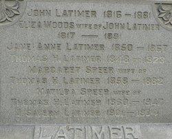 Elizabeth Eliza <i>Woods</i> Latimer