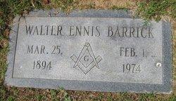 Walter Ennis Barrick