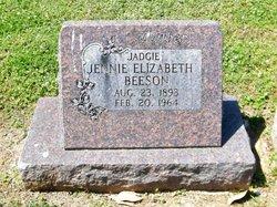 Jennie Elizabeth Jadgie Beeson