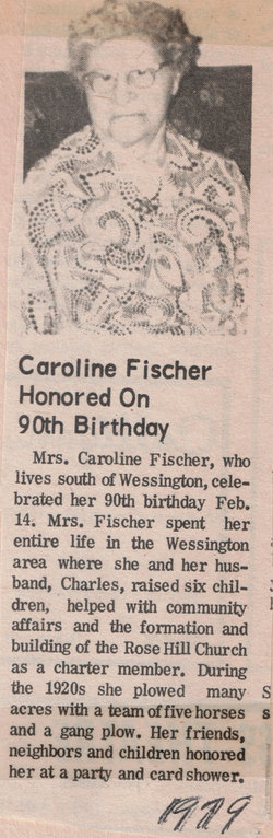 Caroline E. Carrie <i>Muehleisen</i> Fischer