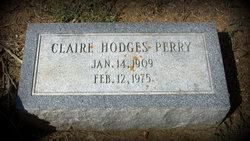 Claire E <i>Hodges</i> Perry
