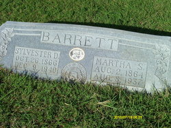Martha Ann Susannah <i>Rice</i> Barrett