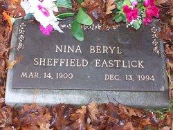 Nina Beryl <i>Taylor</i> Sheffield - Eastlick