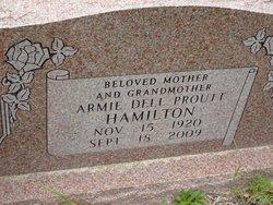 Armie Dell <i>Proutt</i> Hamilton