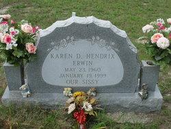Karen D. <i>Hendrix</i> Erwin