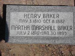 Martha <i>Marshall</i> Baker