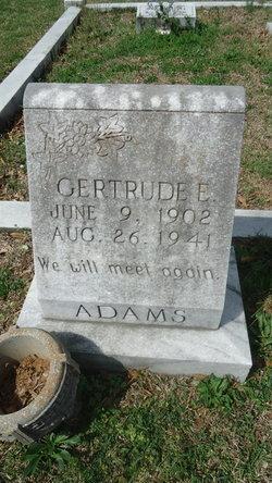 Gertrude E. <i>Mullinax</i> Adams