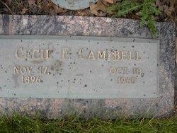 Cecil F Campbell
