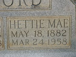 Hettie Mae <i>McDaniel</i> Alford