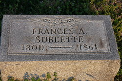 Frances A. <i>Towles</i> Sublette