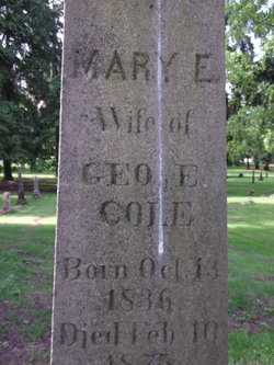 Mary E <i>Cardwell</i> Cole
