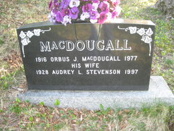 Audrey Louise <i>Stevenson</i> MacDougall