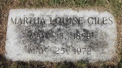 Martha Louise Mattie <i>Rogers</i> Giles